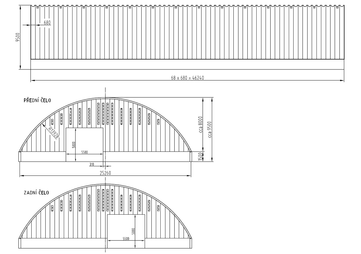 Arched hall - design possibility